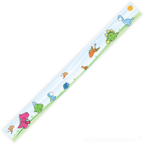 Cute Dino - wall border