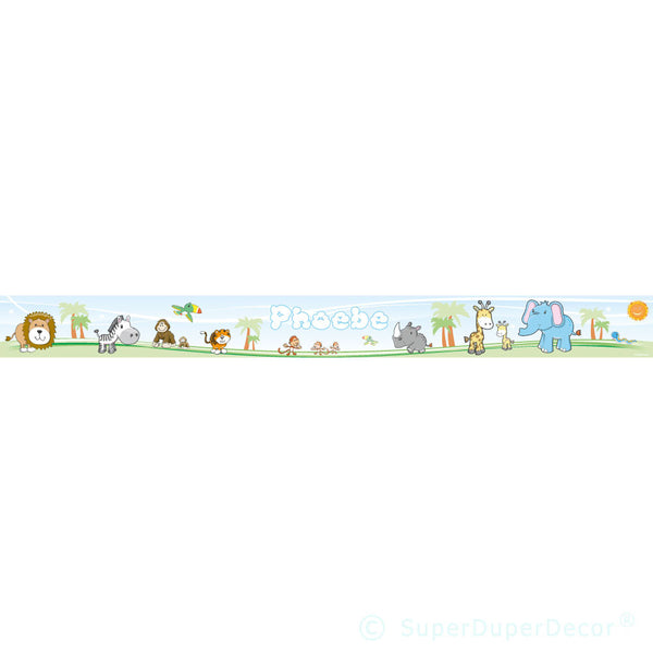 Cute Safari Animals wall border