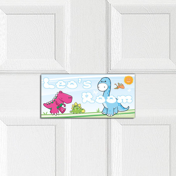 Cute Dinosaurs door plaque