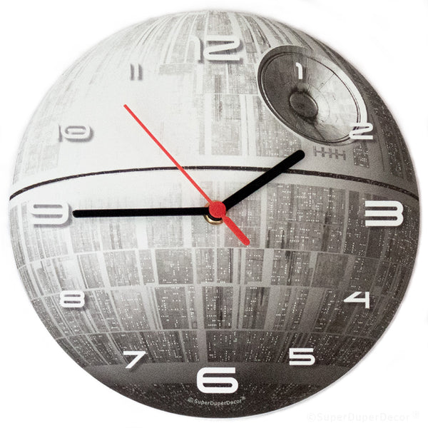 Glow Death Star - wall clock