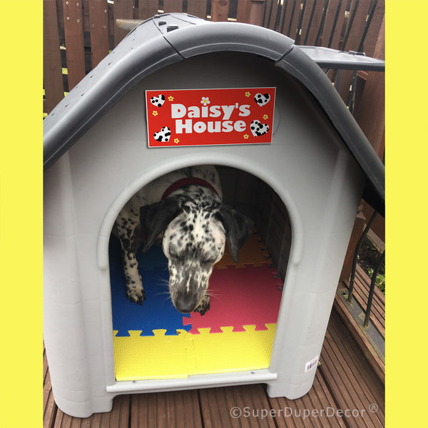 Dog House Name Plaque