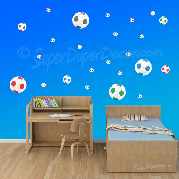 Footballs Mixed - wall stickers