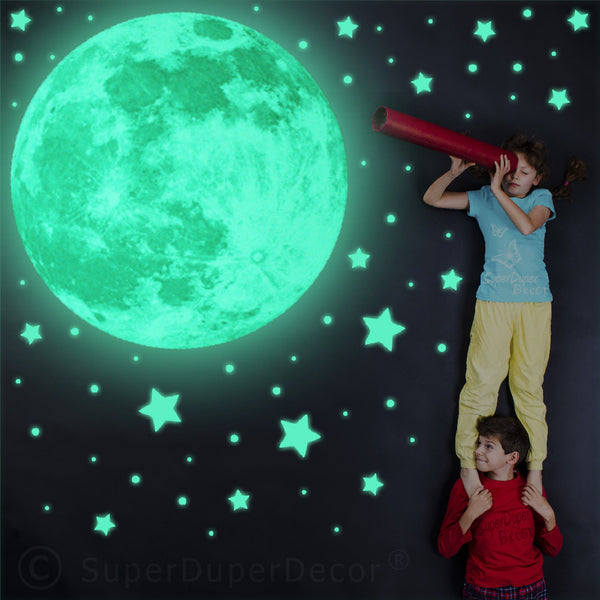 Glow Real Moon And Stars Stickers