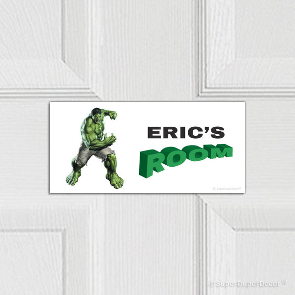 Hulk - door plaque