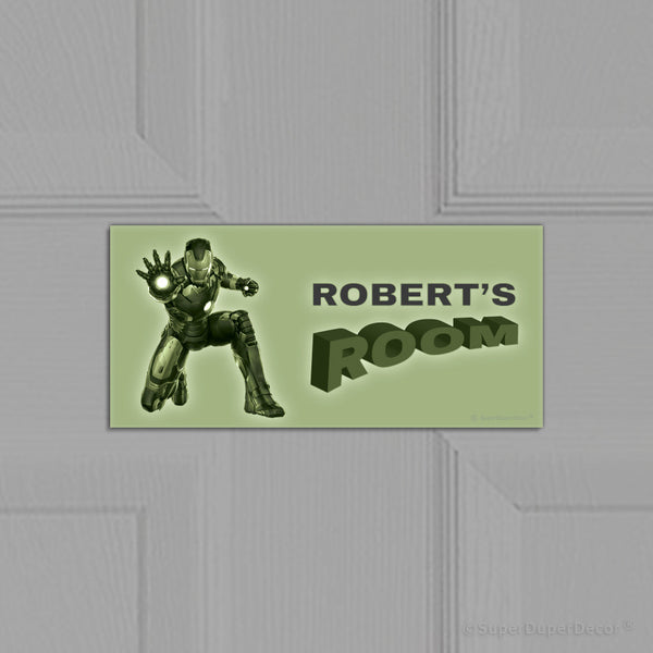 Iron Man - door plaque