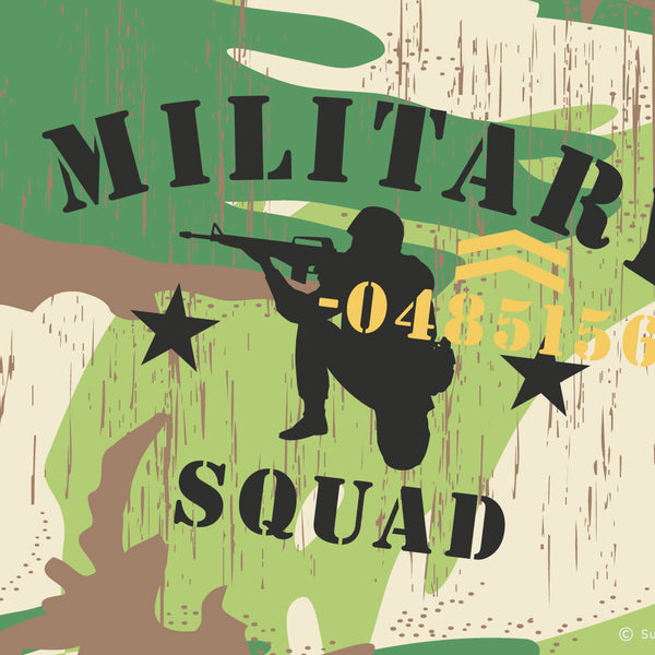 Military Squad Leader wall border