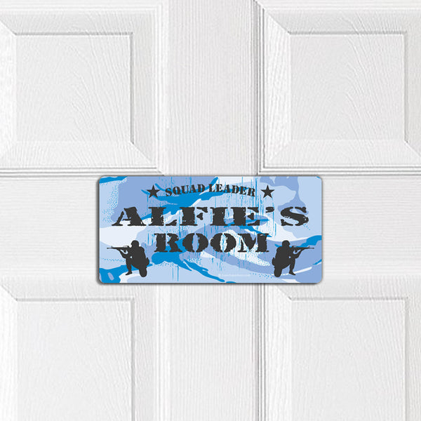 Military Squad Leader door plaque