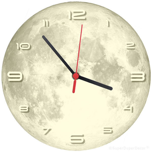 FULL MOON Glow-in-the-Dark - wall clock