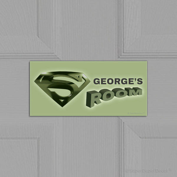 Superman Logo - door plaque