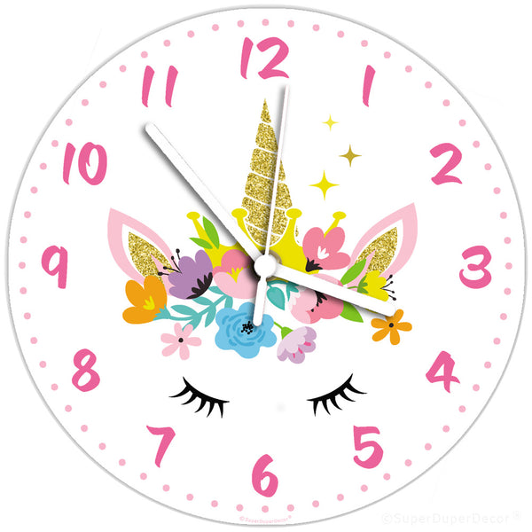 Unicorn Floral - wall clock