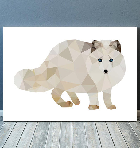 geometric animal print arctic fox