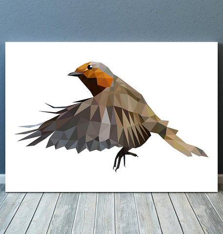 Bird art - Robin - Geometric art