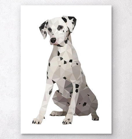 Dalmatian - Animal art - Geometric dog