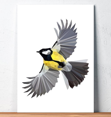 Bird art - Great tit - Geometric art
