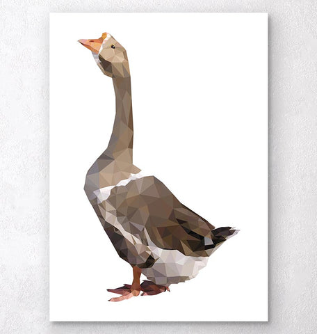 Bird print - Goose - Geometric art