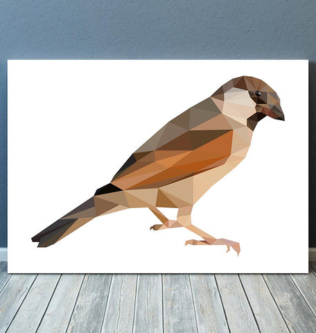 Bird illustration - Sparrow - Geometric art