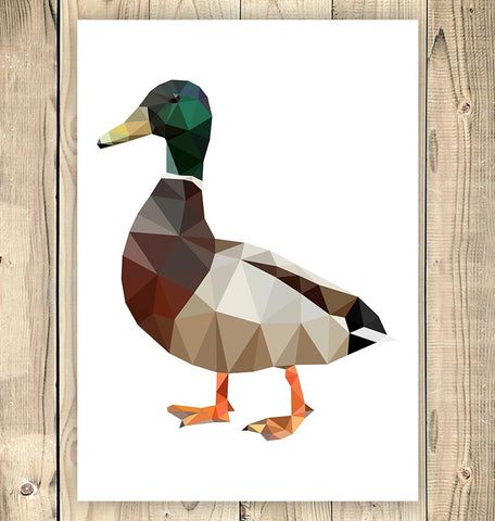 Duck - Bird print - Geometric style