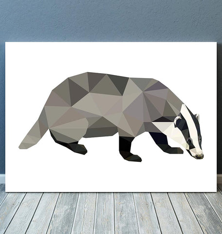 badger geometric animal print