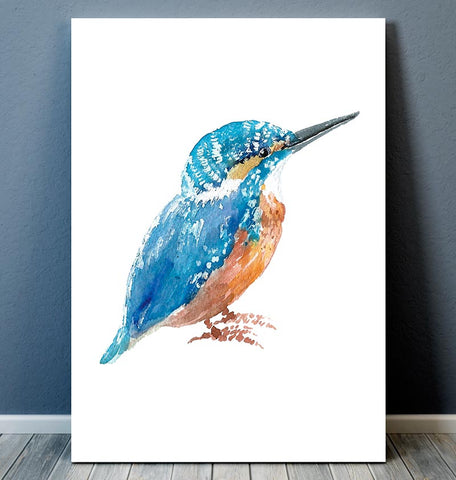 Kingfisher - Bird print - Watercolor art