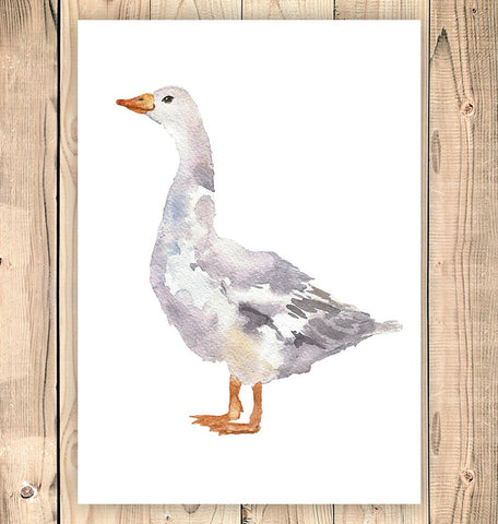 Goose - Bird print - Watercolor art