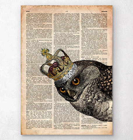 Owl Queen - Dictionary print