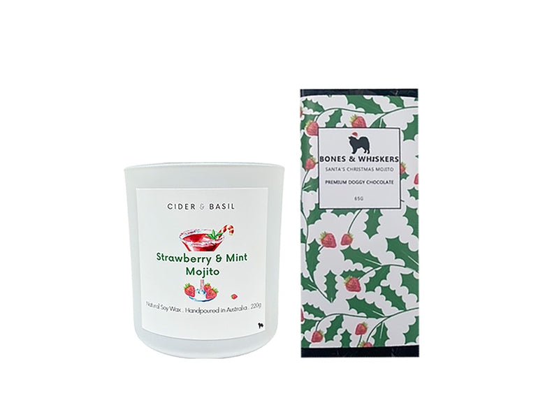 Special Christmas Collab Edition with Bones & Whiskers - Candle & Dog Chocolate Bar-Christmas Collection-Cider and Basil