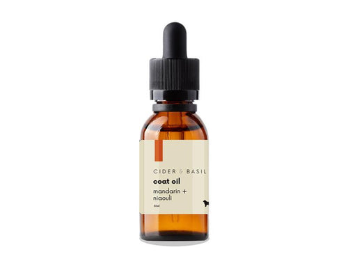 Dog Coat Treatment Oil - Cold Pressed Mandarin & Niaouli-Pet Coat Oil-Cider and Basil
