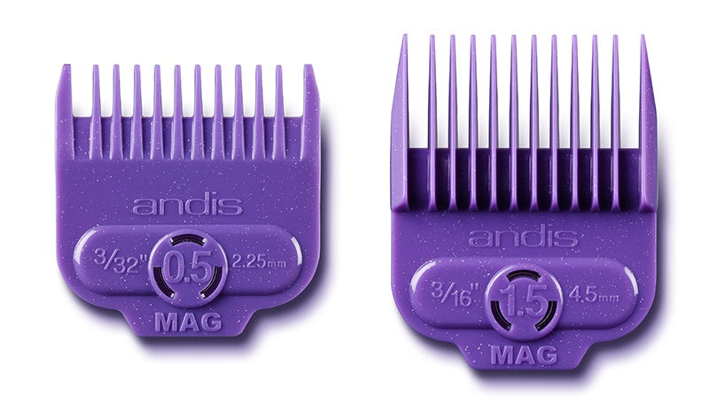 Andis Single Magnetic Comb Set - Dual Pack 0.5 & 1.5