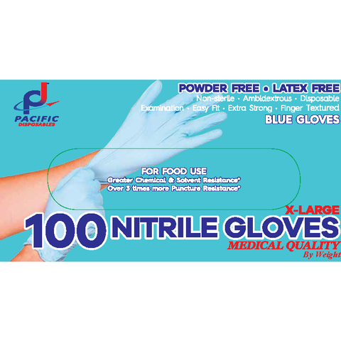 Gloves Nitrite Light blue