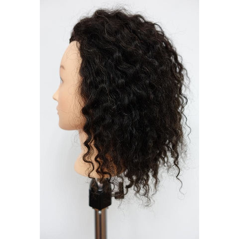 Mannequin 100% Human Hair Curly