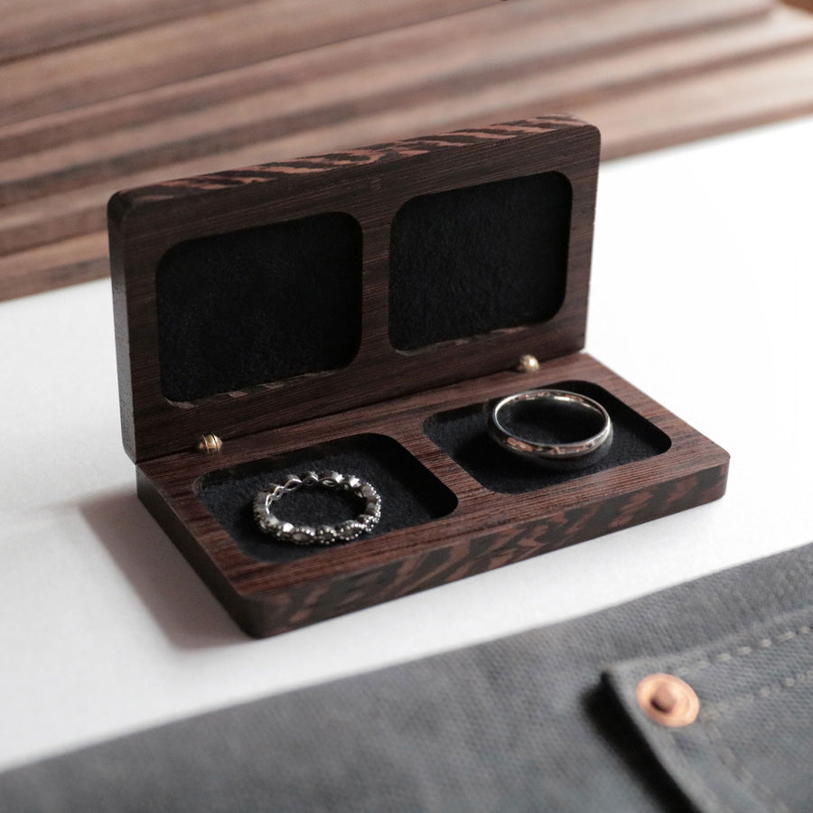 Woodsbury Wedding Ring Box Hand Crafted Timber Ring Box