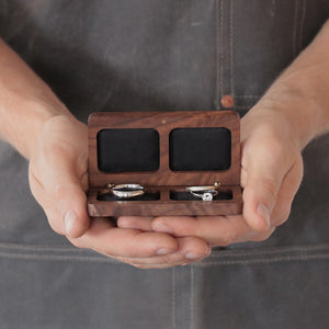 belladora-ring-boxes Walnut Wedding Ring Box Wedding