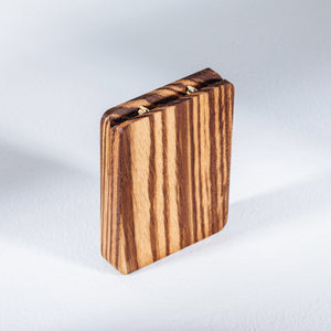 Zebrano Engagement Ring Box