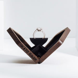 belladora-ring-boxes Wenge Engagement Ring Box Original