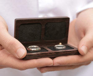 belladora-ring-boxes Wenge Wedding Ring Box Wedding