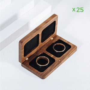 belladora-ring-boxes Wholesale Walnut Wedding Ring Box Wholesale