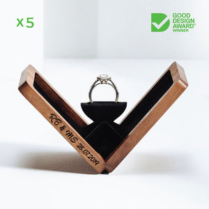 belladora-ring-boxes Wholesale Walnut Engagement Box Wholesale