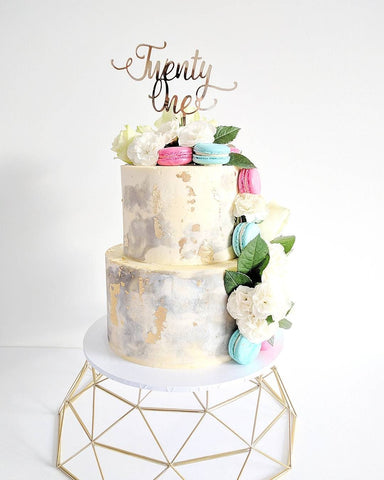21st Birthday Cake, Two Tiered