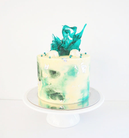 MINI WATERCOLOUR ISOMALT CAKE