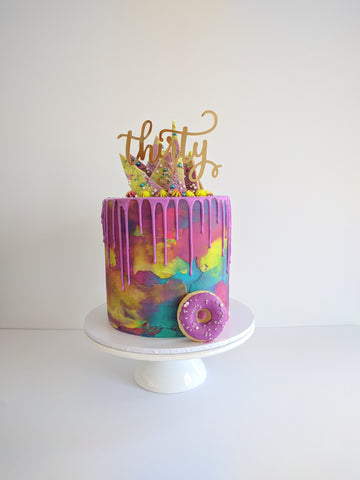 30TH MARDI GRAS THEMED CAKE