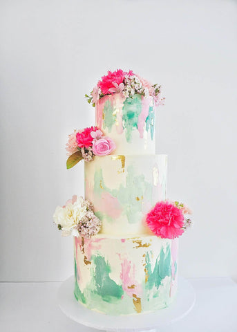 COLOURFUL WEDDING CAKE