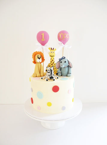First Birthday, Animal Themed Cake