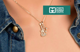 Musical Note Guitar Pendant Necklace