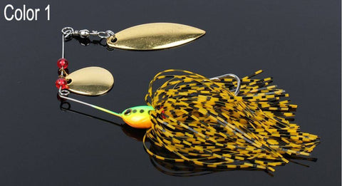 5 pcs/lot Spinnerbait Double Blade Fishing Lure