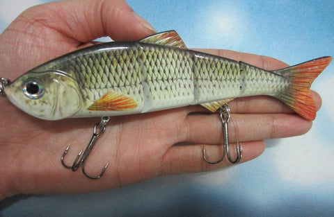 "6"" Big Size Lifelike Multi-jointed Bass Pike Fishing Lure"