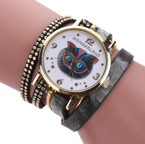 Cheshire Cat Bracelet Wristwatch
