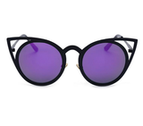 Vintage Cat Eye Metal Sunglasses