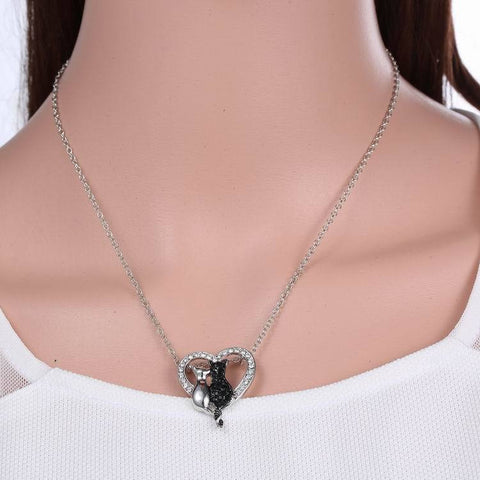 Lovely Cat Pendant Necklace