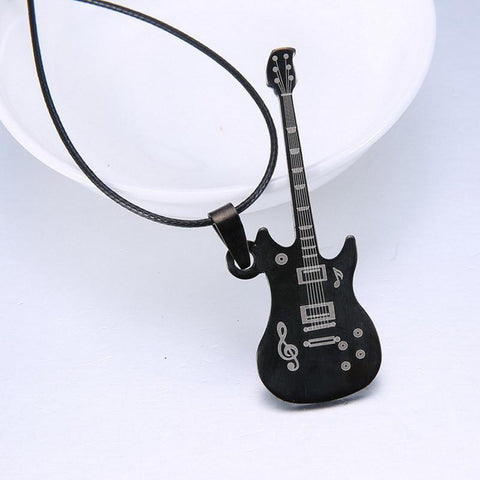 Limited Edition Stainless Steel Guitar Necklace