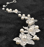 Crystal Flower With Pearl Headband Comb
